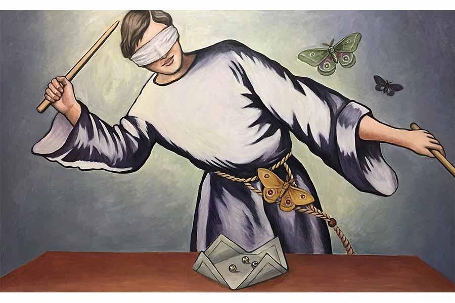 【ナンスカピーポー】サラリーマンから画家へ。架空の画家に絵を描かせる、時の魔術師(第5回 ユアサエボシさん)
