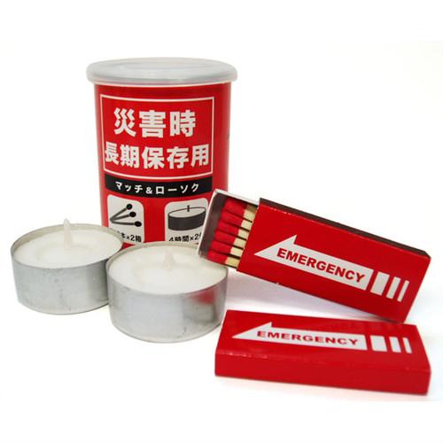 災害時長期保存用 缶詰マッチ(赤)