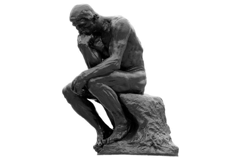 オーギュスト・ロダンの「考える人」は、一体何を考えているの?