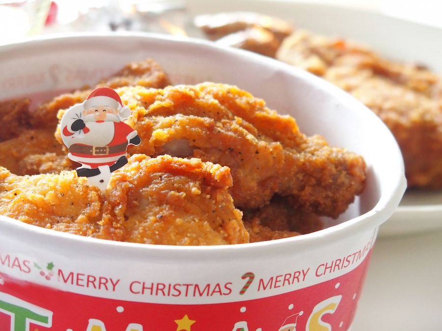 クリスマスのフライドチキン