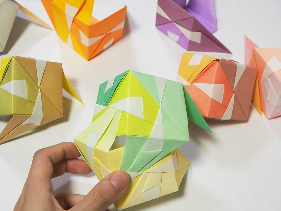 のり 不要 くす玉 折り紙