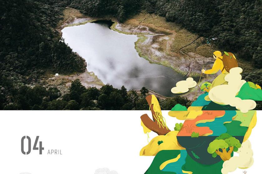 2020年のカレンダーに映る、台湾の山々