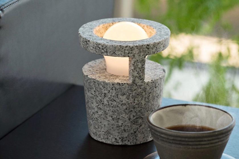 石ってこんなに表情豊か!石燈籠の技術を活かして作った現代的なライト「MAKABE STONE LIGHT」