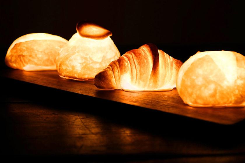 美味しい光に包まれる!?本物のパンで作られたライト「パンプシェード」