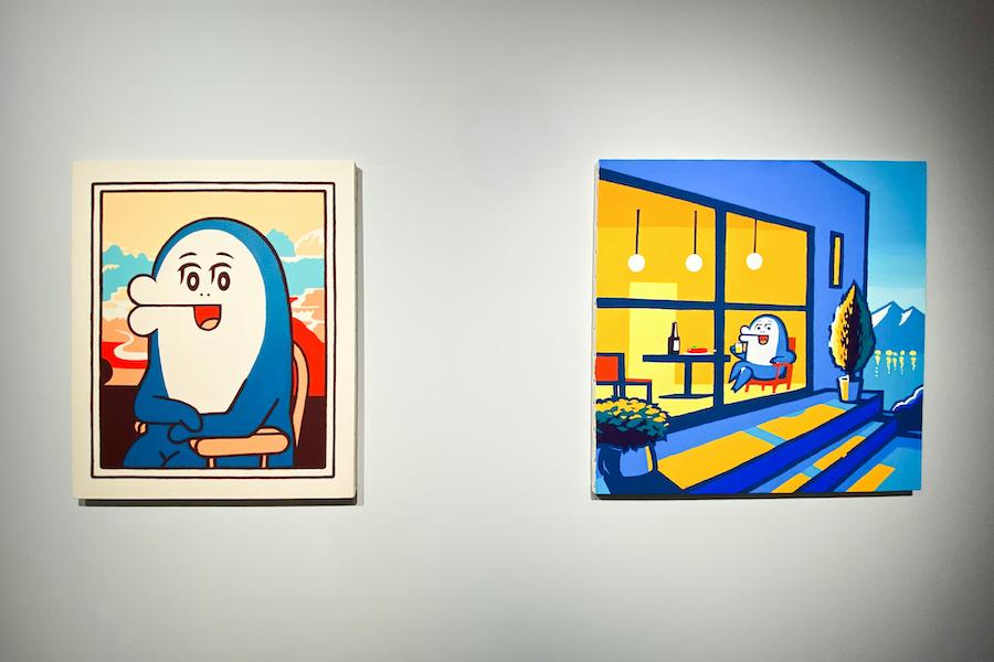 (左) ≪イルカのイルカくんのほほえみ≫, (右) ≪Lac d'Annecy≫ともにAC部 photo by ぷらいまり