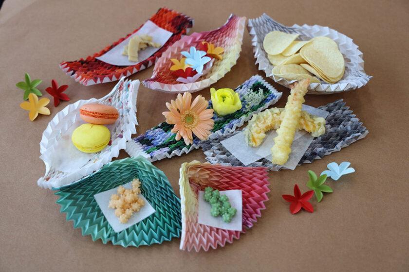 軽い!楽しい!美しい!あなた好みに形を変える「プリーツのお皿」で紙の魅力をもっと感じよう!