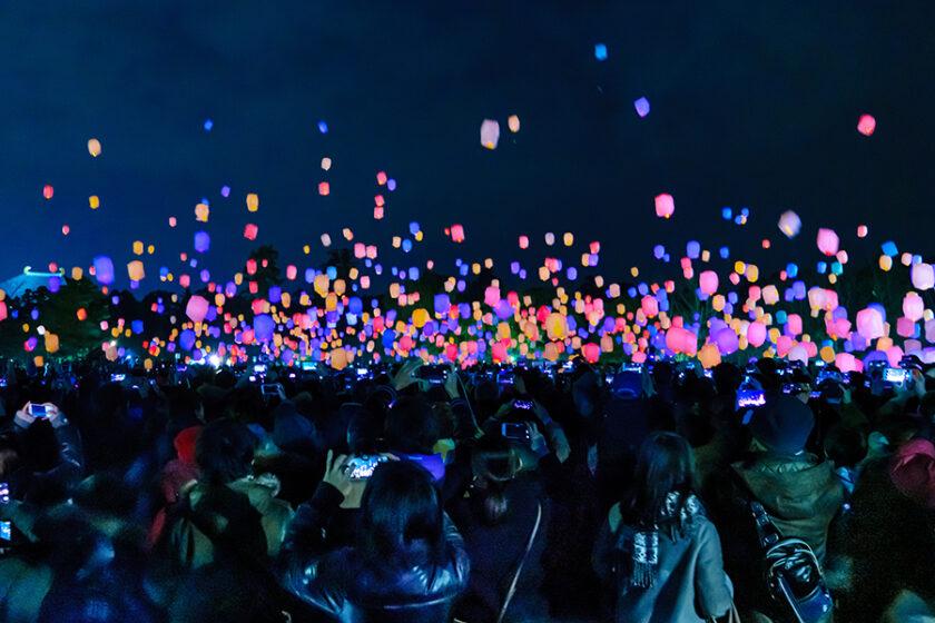 火を使わない世界初のランタン「LEDスカイランタン」でロマンティックな空を楽しもう!