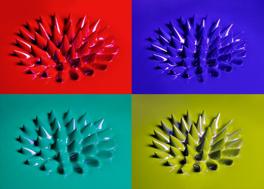 蛍光磁性流体(紅、青、緑、黄緑)
