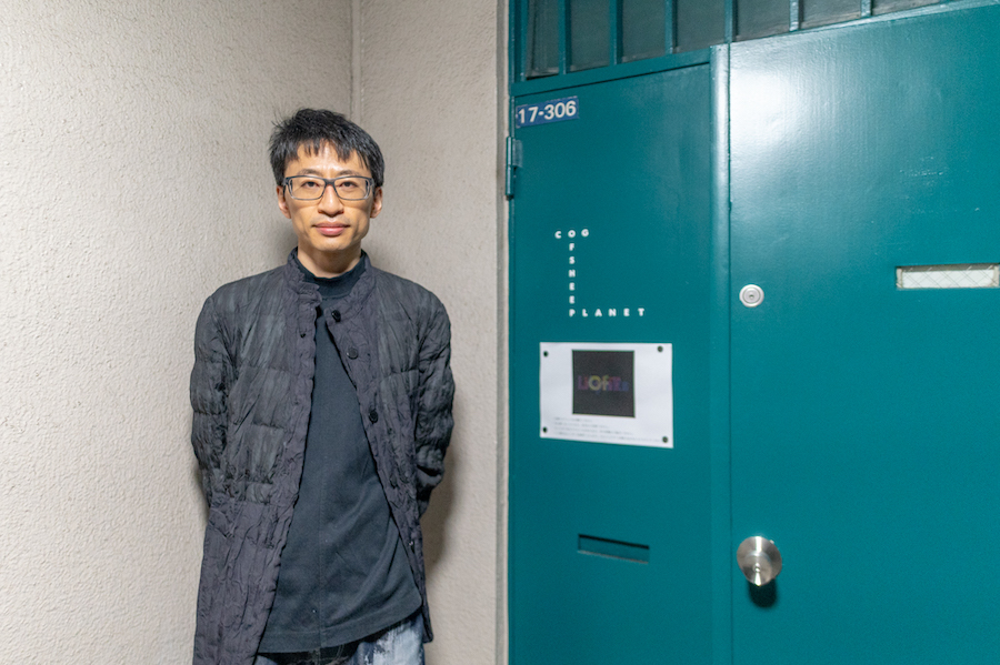 石川将也さん cog オフィス前で photo by ぷらいまり
