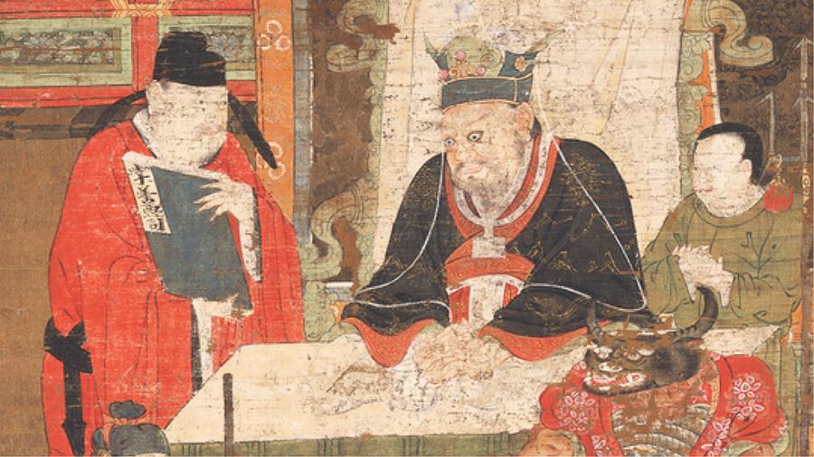 奈良国立博物館『閻羅王図(十王図のうち)』出典:ColBase(https://colbase.nich.go.jp/)をもとに作成