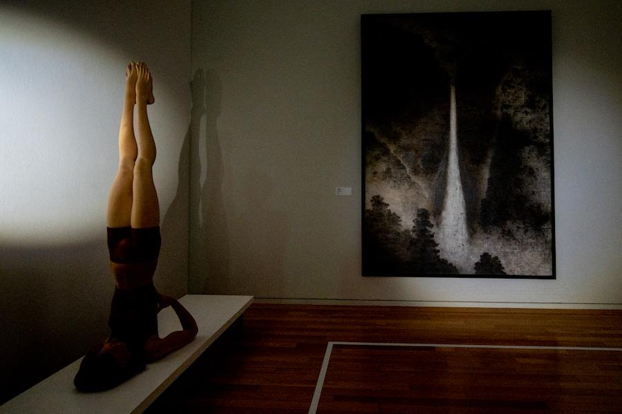 左 ≪YOGA―逆さの氣息≫ / 三宅一樹、右 ≪瀑布望遠≫ / 箱崎睦昌  photo by ぷらいまり