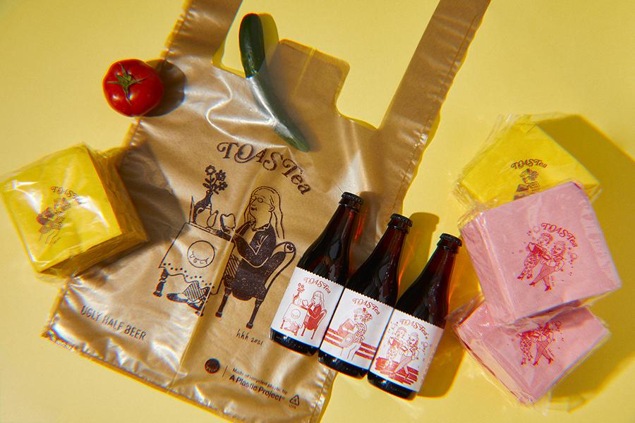 ビール3本と手提げ袋とでセット販売されている(画像提供:©️酉鬼啤酒 Ugly Half Beer)