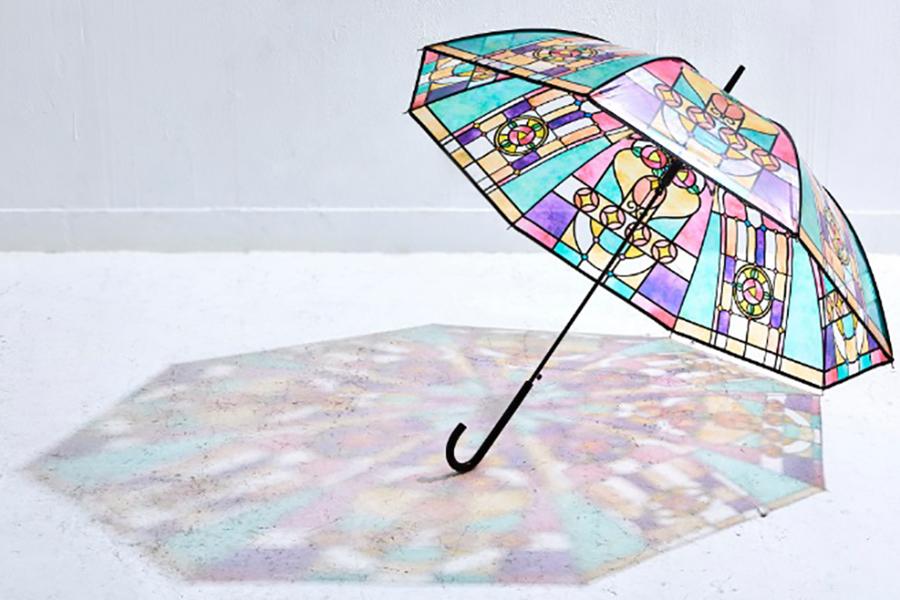 大正ロマンなステンドグラスの傘