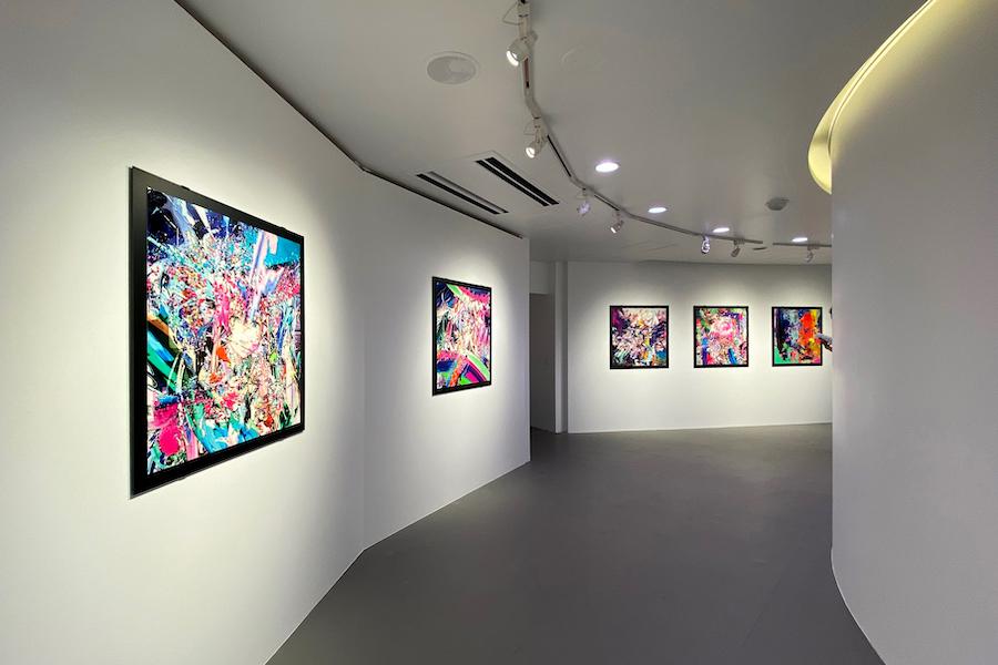「画像・アラウンドスケープ・粒子」展 展示風景  photo by ぷらいまり