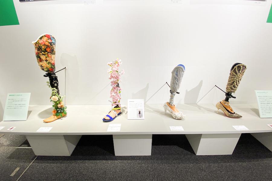 「切断ヴィーナス」プロジェクトで使用された義足 photo by ぷらいまり